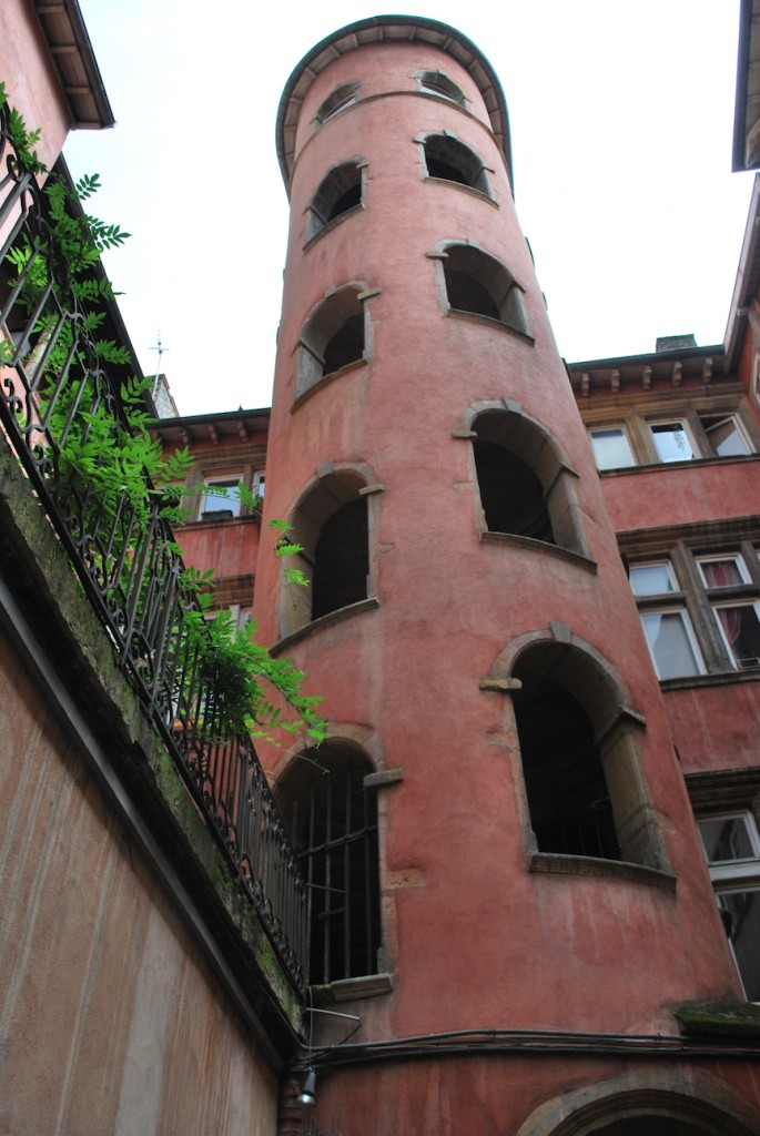 Lyon courtyard tower