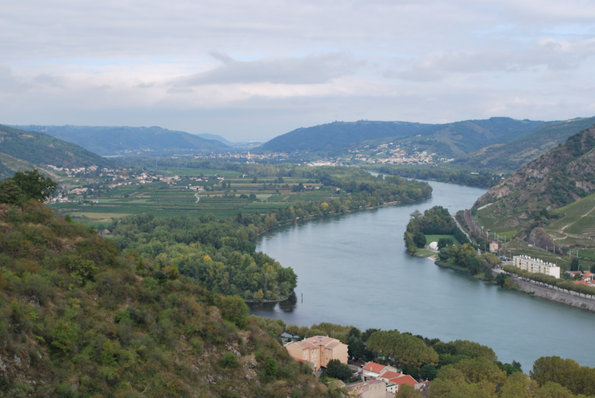 Saone river north of Lyon